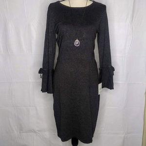 Calvin Klein Charcoal heather gray sweater dress